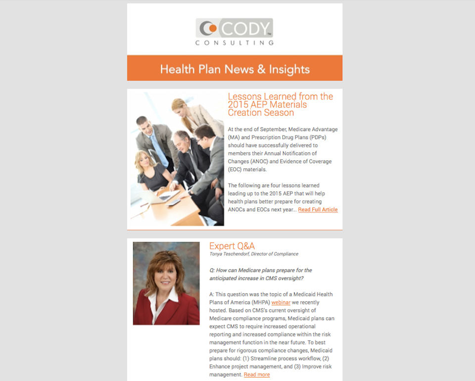 Cody Consulting eNews