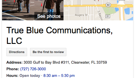 True Blue Communications Google+ Benefits