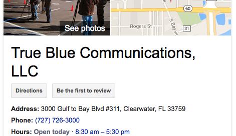 True Blue Communications Google+ Benefits